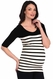 Tees By Tina Ballet Sleeve St Barts Stripe Top
