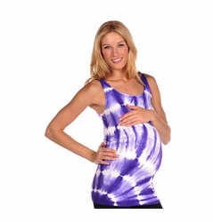 TEMPORARILY OUT OF STOCK Tees By Tina Diagonal Tie Dye Tank Top