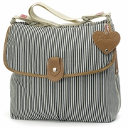 Babymel Satchel Diaper Bag - Navy Stripe