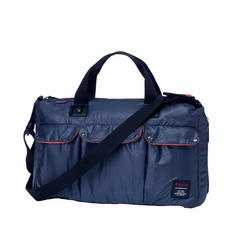TEMPORARILY OUT OF STOCK Babymel Soho Messenger Diaper Bag - Navy Blue