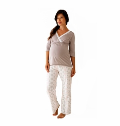 TEMPORARILY OUT OF STOCK Belabumbum Starlit Maternity Nursing Pajama Tunic/Pant Set