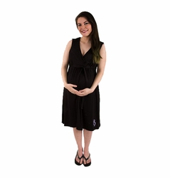 TEMPORARILY OUT OF STOCK BG & Co Birthing Hospital Gown Nursing Night Gown - Nightie-Night Black