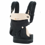 TEMPORARILY OUT OF STOCK Ergobaby Four Position 360 Baby Carrier - Black/Camel