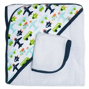 SOLD OUT JJ Cole Hooded Towel And Washcloth Set - White Vroom