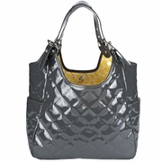 TEMPORARILY OUT OF STOCK JP Lizzy Quilted Satchel Diaper Bag - Slate Saffron