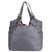 TEMPORARILY OUT OF STOCK JP Lizzy Satchel Diaper Bag - Graphite Blush Chevron