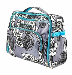 TEMPORARILY OUT OF STOCK Ju-Ju-Be B.F.F. Tote/Backpack Style Diaper Bag - Charcoal Roses