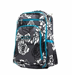 TEMPORARILY OUT OF STOCK Ju-Ju-Be Be Right Back Backpack Style Diaper Bag - Charcoal Roses