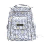 TEMPORARILY OUT OF STOCK Ju-Ju-Be Be Right Back Backpack Style Diaper Bag - Silver Ice