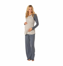 TEMPORARILY OUT OF STOCK Majamas Pastime Maternity Nursing Lounge Pajama Set