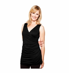 TEMPORARILY OUT OF STOCK Milkstars Caroline Sleeveless Criss-Cross Maternity And Nursing Top