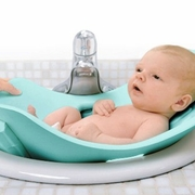 TEMPORARILY OUT OF STOCK Puj Tub -The Soft Foldable Baby Bath Tub - Aqua Blue