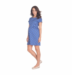 TEMPORARILY OUT OF STOCK Seraphine Martina Short Sleeve Polka Dot Dress