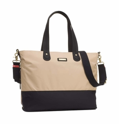 TEMPORARILY OUT OF STOCK Storksak Color Block Tote Diaper Bag - Champagne/Black