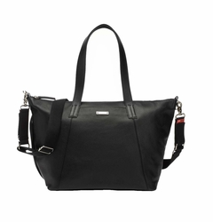 TEMPORARILY OUT OF STOCK Storksak Noa Leather Diaper Bag Set - Black