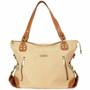 TEMPORARILY OUT OF STOCK Timi And Leslie Kate Diaper Bag Tote - Sand/Saddle