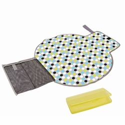 SOLD OUT The First Years Deluxe Fold And Go Travel Diapering Kit - Dots