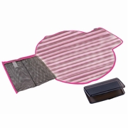 The First Years Deluxe Fold And Go Travel Diapering Kit - Pink/Brown