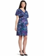 Three Seasons Print Kimono Maternity Dress