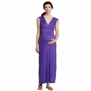 Three Seasons Sleeveless Purple Maternity Maxi Dress