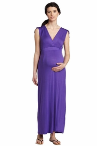 SOLD OUT Three Seasons Sleeveless Purple Maternity Maxi Dress