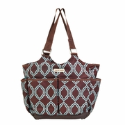 TEMPORAILY OUT OF STOCK Timi And Leslie Canvas Tag A Long Diaper Bag Tote - Sahara
