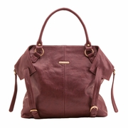 Timi And Leslie Charlie Diaper Bag Tote - Burgundy