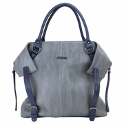 Timi And Leslie Charlie Diaper Bag Tote - Grey/Navy