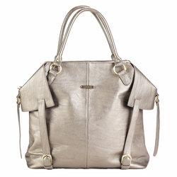 TEMPORARILY OUT OF STOCK  Timi And Leslie Charlie Diaper Bag Tote - Pewter