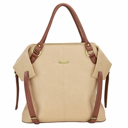 TEMPORARILY OUT OF STOCK Timi And Leslie Charlie Diaper Bag Tote - Sand/Cinnamon