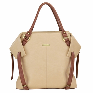 SOLD OUT Timi And Leslie Charlie Diaper Bag Tote - Sand/Cinnamon