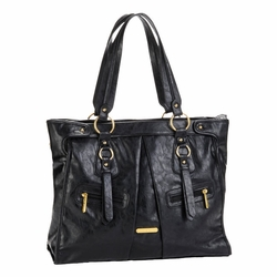 TEMPORARILY OUT OF STOCK Timi And Leslie Dawn Diaper Bag Tote - Black