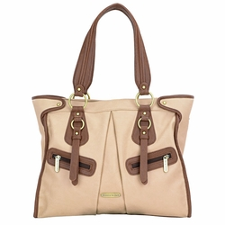 SOLD OUT Timi And Leslie Dawn Diaper Bag Tote - Sand/Cinnamon