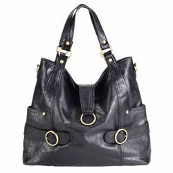 Timi And Leslie Hannah Tote Diaper Bag - Black