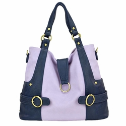 SOLD OUT Timi And Leslie Hannah Tote Diaper Bag - Pastel Lilac/Navy