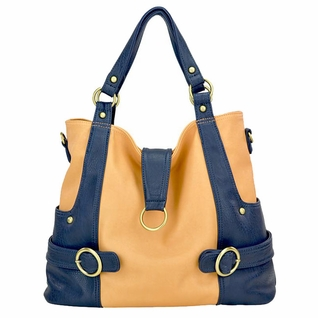 ZOLD OUT Timi And Leslie Hannah Tote Diaper Bag - Pastel Peach/Navy