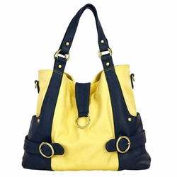 SOLD OUT Timi And Leslie Hannah Tote Diaper Bag - Pastel Yellow/Navy