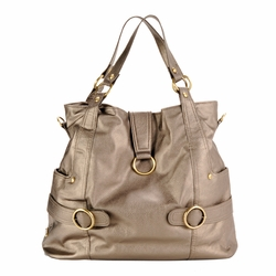 Timi And Leslie Hannah Tote Diaper Bag - Pewter