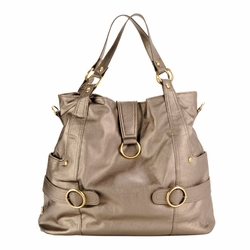 TEMPORARILY OUT OF STOCK Timi And Leslie Hannah Tote Diaper Bag - Pewter