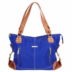 Timi And Leslie Kate Diaper Bag Tote - Cobalt/Saddle