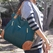 SOLD OUT  Timi And Leslie Kate Diaper Bag Tote - Teal/Saddle