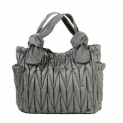 Timi And Leslie Marie Antoinette Tote Diaper Bag - Silver