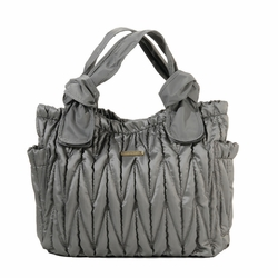 SOLD OUT Timi And Leslie Marie Antoinette Tote Diaper Bag - Silver