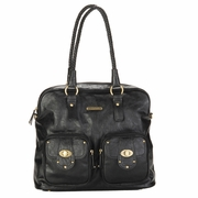TEMPORARILY OUT OF STOCK Timi And Leslie Rachel Satchel Diaper Bag - Black