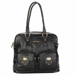 Timi And Leslie Rachel Satchel Diaper Bag - Black