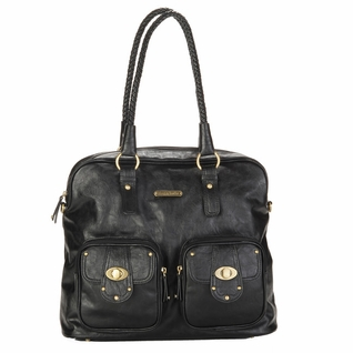 SOLD OUT Timi And Leslie Rachel Satchel Diaper Bag - Black