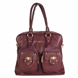 SOLD OUT Timi And Leslie Rachel Satchel Diaper Bag - Burgundy