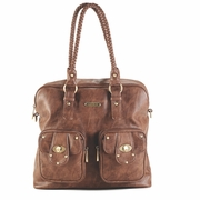 TEMPORARILY OUT OF STOCK Timi And Leslie Rachel Satchel Diaper Bag - Caramel