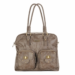 TEMPORARILY OUT OF STOCK Timi And Leslie Rachel Satchel Diaper Bag - Taupe