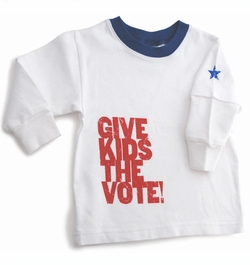 Wry Baby Give Kid's The Vote!  Tee - FINAL SALE